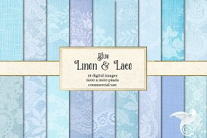 Blue Linen and Lace