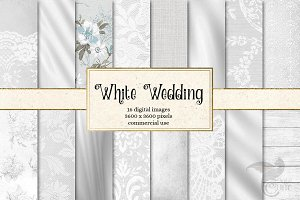 White Wedding Digital Paper