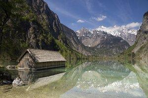 Boathous in Lake Obersee