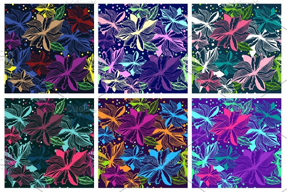 Floral Seamless Pattern Background Cloth Wallpaper Scrapbooking Wrapping