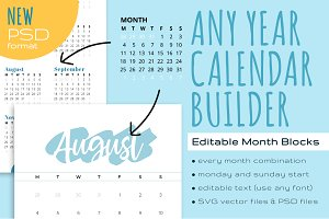Editable Calendar Month Blocks