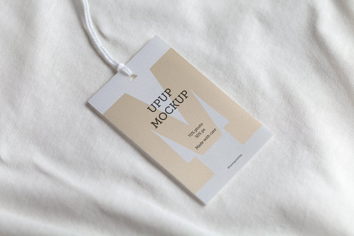 Clothes Label Tag Blank White Mockup Creative Product Mockups
