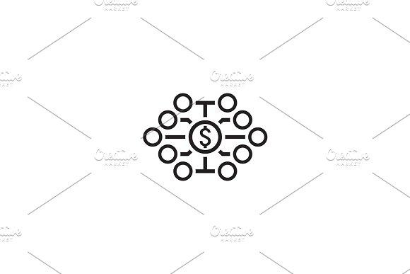 Investing Diversification Icon Flat Design