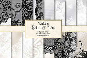 Wedding Satin and Lace Backgrounds