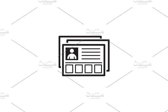 Business Profile Icon Flat Design