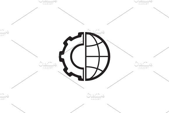 Global Integration Icon Flat Design