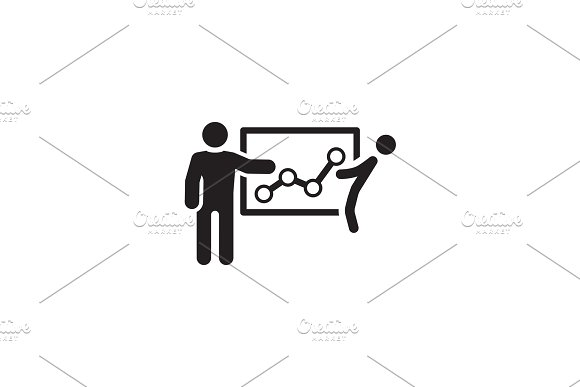 Effective Marketing Tools Icon Flat Design