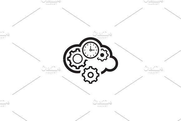 Cloud Processing Icon Flat Design