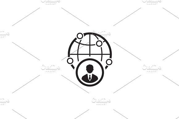 Business Representative Icon Flat Design