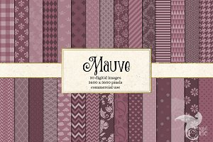 Mauve Digital Scrapbook Paper
