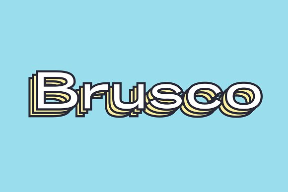 Brusco - Retro Grotesk
