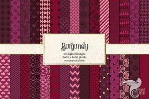 Burgundy Digital Paper