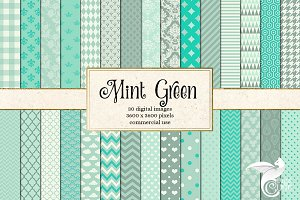 Mint Green Digital Paper