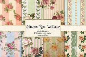 Antique Rose Wallpaper Backgrounds