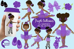 Ballerinas in purple AMB-1947