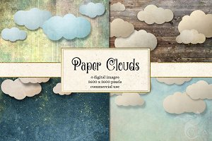 Paper Clouds Backgrounds