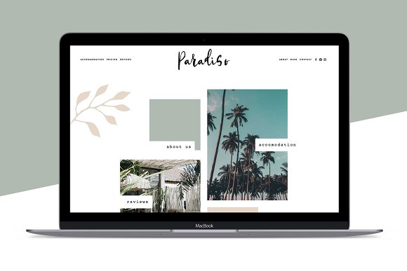 Squarespace Template Paradiso