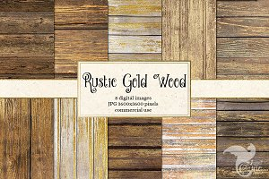 Rustic Gold Wood Digital Paper