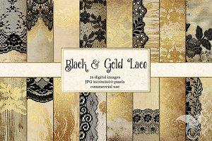 Black and Gold Lace Backgrounds
