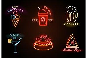 Cafe Ice Cream Street Coffee Vector Illustration