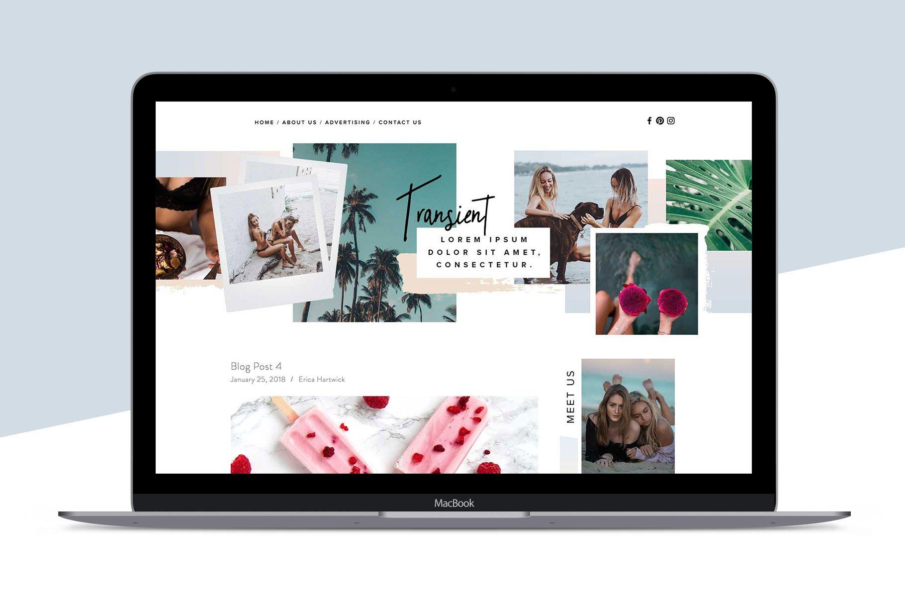 Squarespace Template Transient Website Templates Creative Market