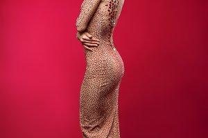 beautiful girl in long dress