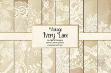 Vintage Ivory Lace Digital Paper