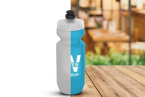 Plastic Water Bottle Mockup