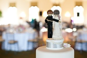 Bride and groom cake topper 2