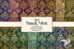 Royal Velvet Damask Backgrounds