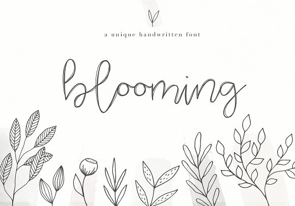 Blooming - Handwritten Font
