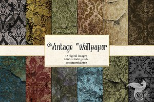 Vintage Damask Wallpaper Textures
