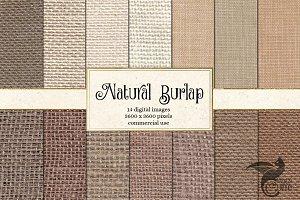 Natural Burlap Textures