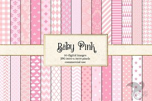 Baby Pink Patterns Digital Paper