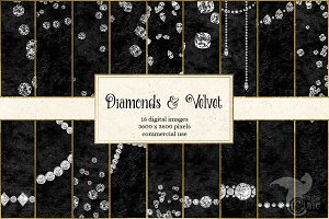 Diamonds and Velvet Backgrounds