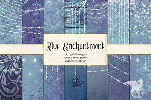 Enchanted Blue Backgrounds