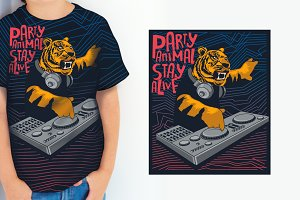 t-shirt graphic vector design