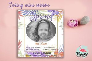 Spring Mini Session Template, 5x5