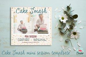 cake smash mini session template