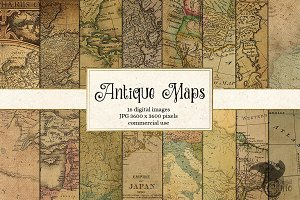 Antique Maps Digital Paper