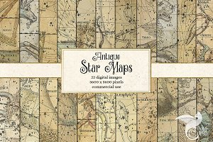 Antique Star Maps Backgrounds