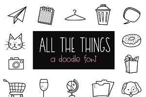 All The Things - Doodle Font