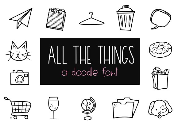 All The Things Doodle Font