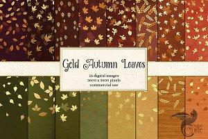 Gold Leaf Confetti Bokeh Backgrounds