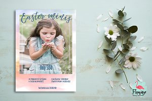 Easter Mini Session template, Spring