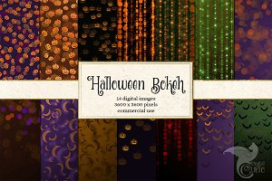 Halloween Bokeh Digital Paper
