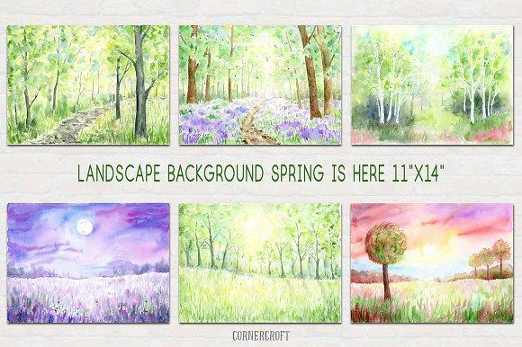 Watercolour Landscape Spring