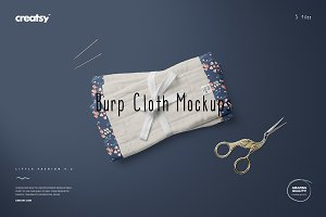 Burp Cloth Mockup Set