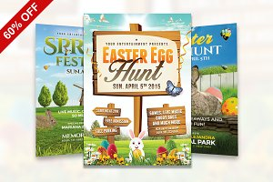 60% OFF Spring / Easter Bundle Flyer