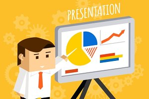 Businessman presentation
